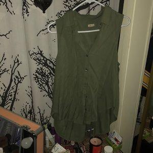 Hollister army green tank